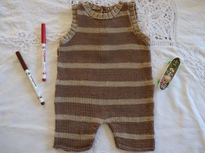 combishort marron et beige, ref564 , 6 mois, disponible.JPG