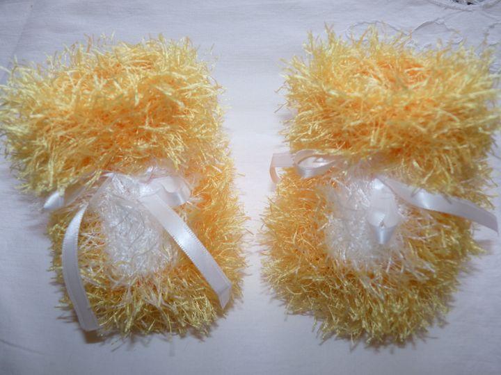 Moon boots jaune et blanc, ref 0519, 1er âge, disponibles