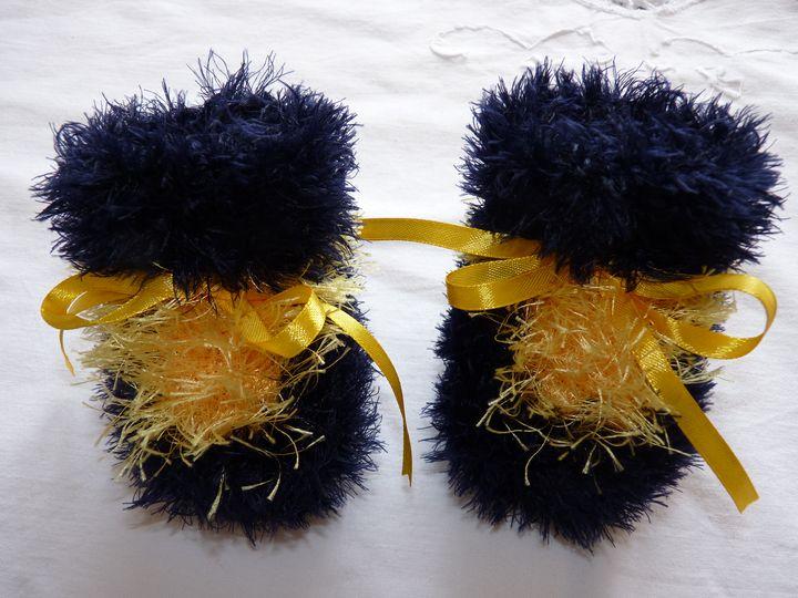 Moon boots marine et jaune, ref 0520, naissance, disponibles