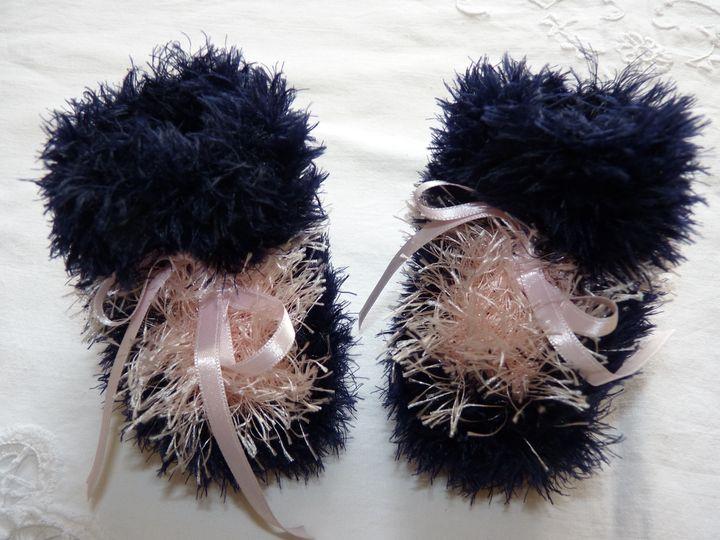 Moon boots marine et rose pâle, ref 0523, naissance, disponibles