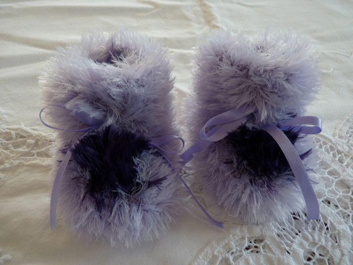 Moon boots mauve et violet, ref 0597, naissance, disponibles