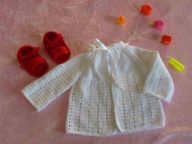 paletot et nus pieds en coton au crochet - crochet fait main Sosabel