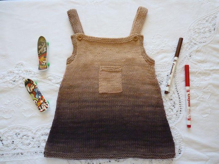 robe à bretelles dégradée,ref 0412 , 6 mois , disponible