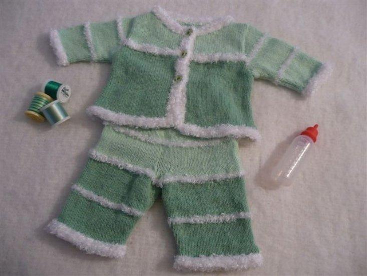 veste pantalon vert peluche 3 mois Ref 068